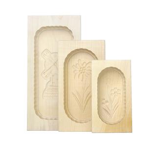 3er Butteformen Set eckig aus Ahornholz